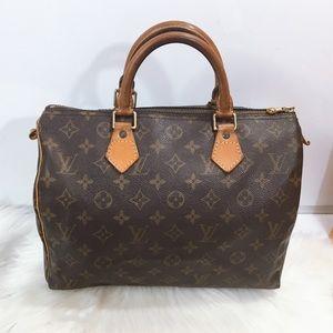 100% Authentic Louis Vuitton Monogram Speedy 30
